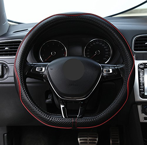 ZATOOTO車用ハンドルカバーd型 本革 ステアリングカバー 滑り止め グリップ感上等 LY098-H