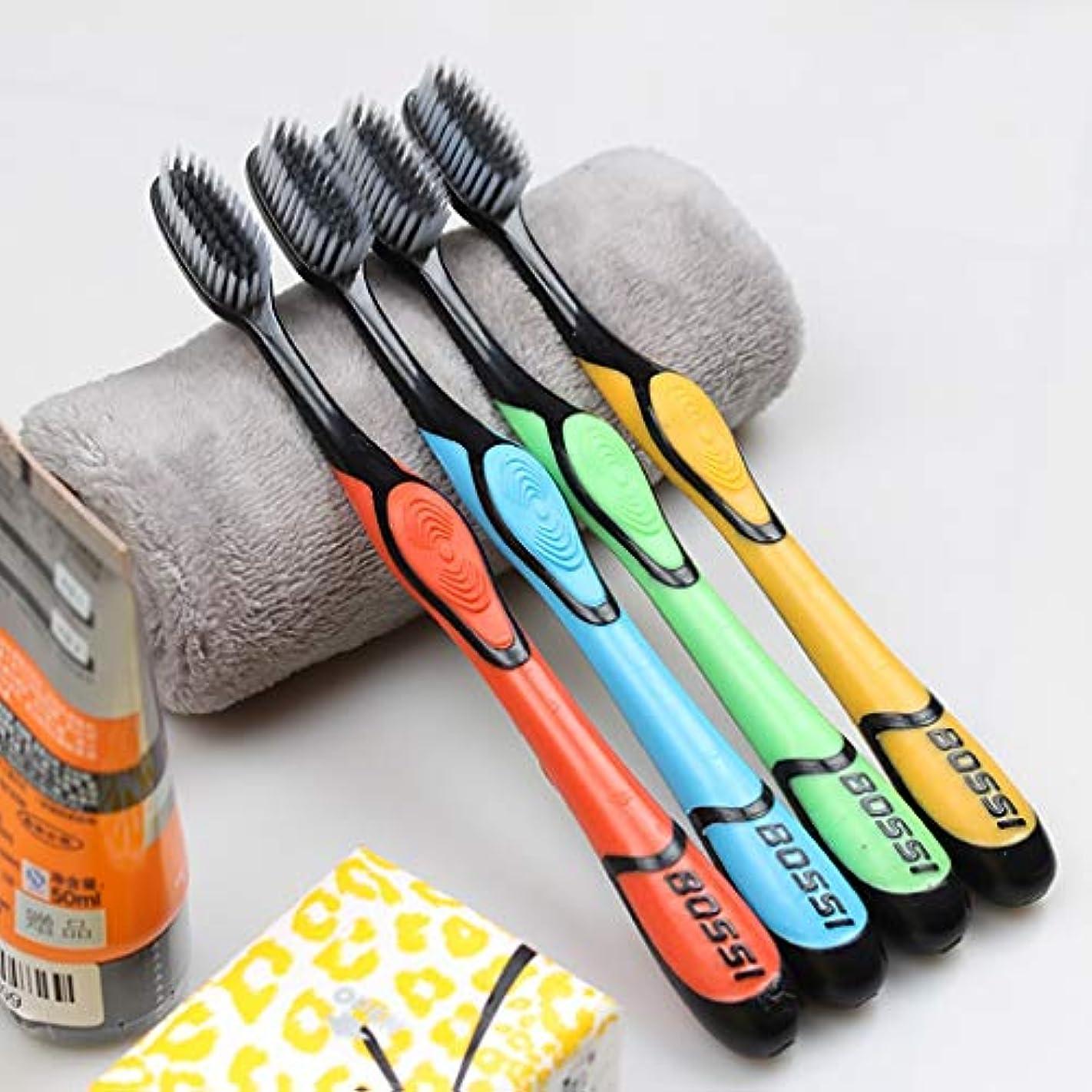 モンキー強います固有の大人の竹炭の歯ブラシ、家族10本の棒、竹炭は効果的に口臭を取り除きます
