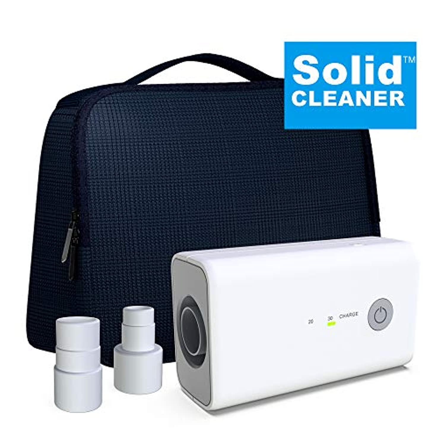 濃度宿孤児Solidcleaner 新しい クリーナーと消毒剤 バンドル バッグ互換性 加熱ホースアダプタアダプタポータブル充電式マスクチューブクリーナーを消毒含み Upgraedバンドル ライトグレー