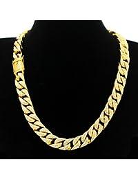 喜平ネックレス k18 ダブル ゴールド ネックレス メンズ 金 チェーン ツイスト マイアミキューバン PROPRE