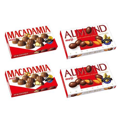 明治 アーモンドチョコレート(2コ)& マカダミアチョコ(2コ)セット