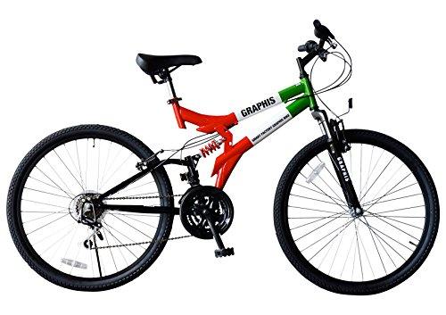 My Pallas(マイパラス) GRAPHIS(グラフィス) MTBマウンテンバイク 26インチ 18段ギア カラー/レッド・ホワイト・グリーン GR-005