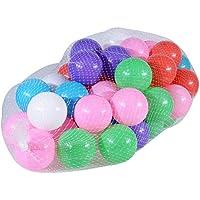 ocamo 50個カラフルなボール、ソフトプラスチックOcean Fun BallsベビーキッズテントSwim Pitおもちゃゲームギフト、サイズ2.76