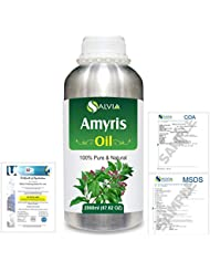 Amyris (Amyris balsamifera) 100% Natural Pure Essential Oil 2000ml/67 fl.oz.