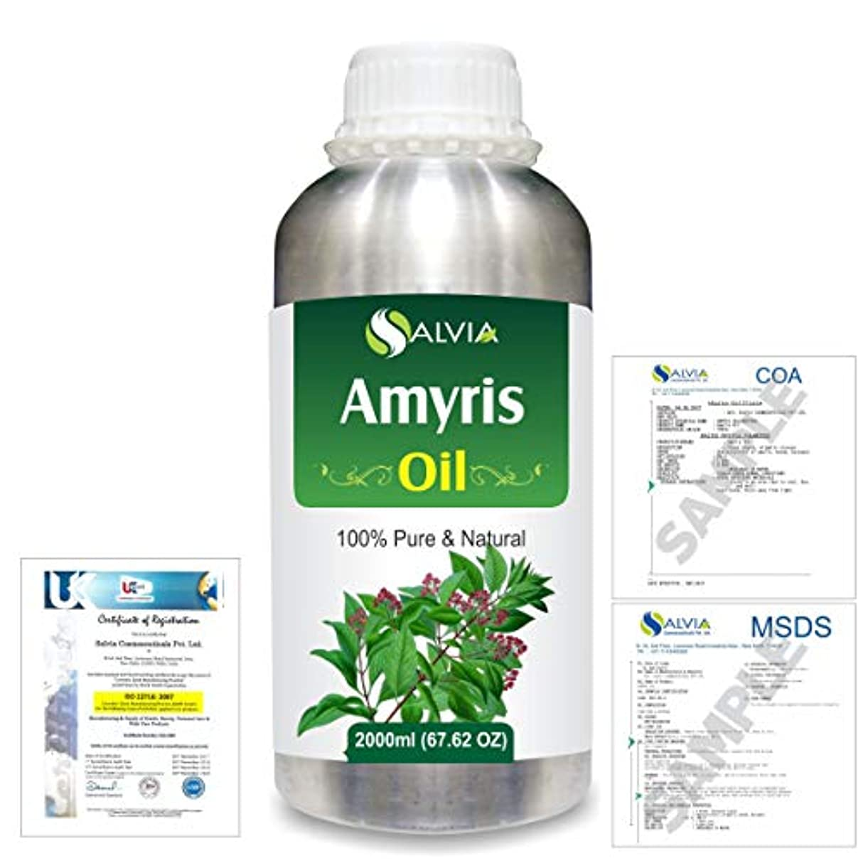 かわいらしい柔らかさ配分Amyris (Amyris balsamifera) 100% Natural Pure Essential Oil 2000ml/67 fl.oz.