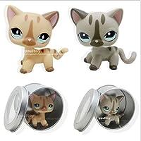 2pcs Littlest Pet Shopショートヘア猫KittyおもちゃLPS # 886 # 468