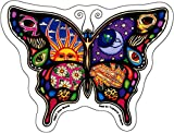 """Day and Night Butterfly - Dan Morris, Vinyl Sticker DECAL for Car Bumper Skateboard Laptop Luggage - 5"""" x 3.75"""""""