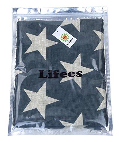 (ライフィーズ) Lifees クッションカバー 45×45cm スター 星 北欧 10種類 (グレー)