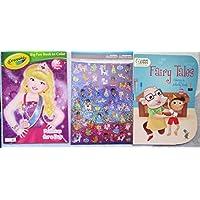 プリンセスColoring Book and 50ステッカーセット2 Books and Fairy Tales