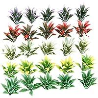 100個 花 樹木モデル モデルツリー 鉄道模型 建築模型 電車模型 装飾 プラスチック 黄 白 緑 赤 紫(各色20pcs)