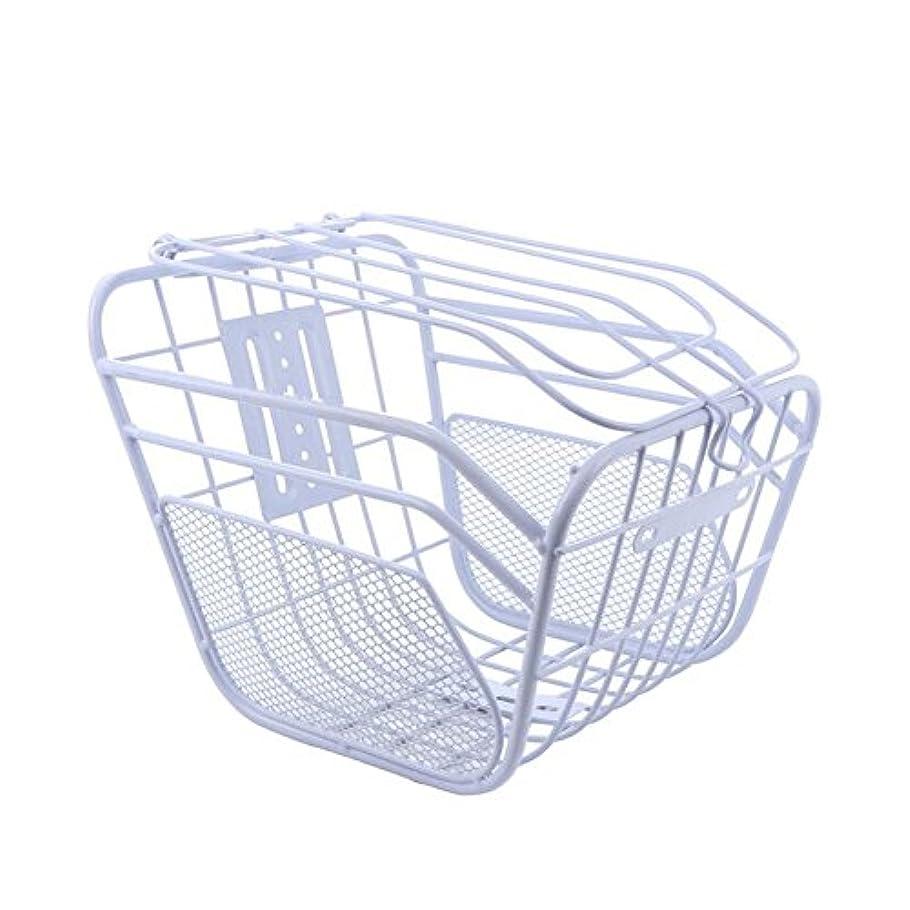 収縮潜在的な追い越す自転車フロントリアバスケットElectric Iron Basket with Lips