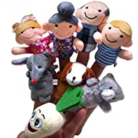 YChoice 興味深い指人形 おもちゃ 8個/セット カートゥーン ファーマー 指人形 布製 赤ちゃん用 教育 手話 おもちゃ