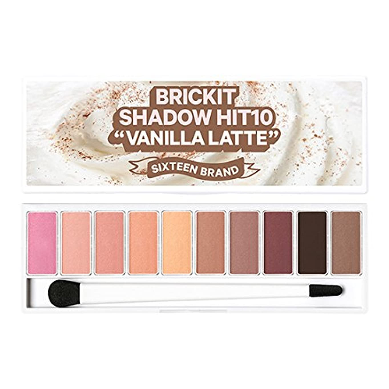 スクラップマート深さ16brand Sixteen Brickit Shadow Hit 10 Vanilla Latte 10g/16ブランド シックスティーン ブリックキット シャドウ ヒット 10 バニララテ 10g [並行輸入品]