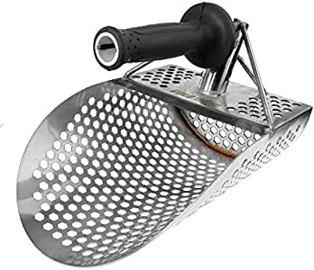 サンドスクープスペード掘り取りショベル金属探知機アクセサリー六面体の穴小さなステンレス鋼防食ツール水中検出金