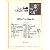 [冊子][楽譜]GUITAR ARCHIVES Andres Segovia No.131Manuel M. Ponce ESTUDIO アンドレス・セゴビア