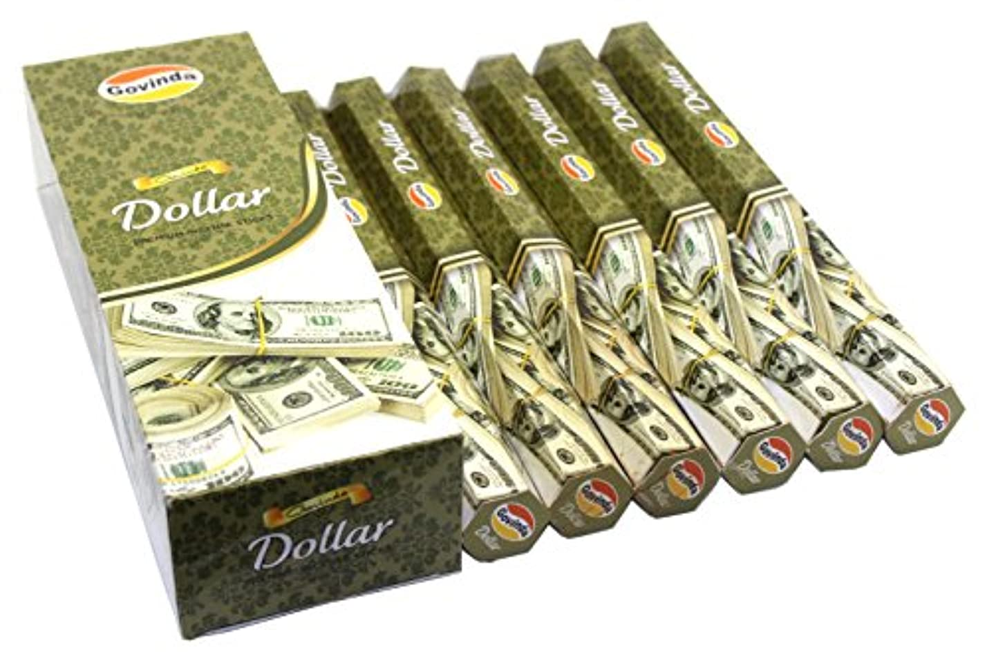 褒賞サイバースペース前者Govinda Incense – Dollar – 120 Incense Sticks、プレミアムIncense