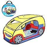 Seavish キッズテント 車 折り畳み式 ボールプール ボールハウス 子供 おもちゃ 秘密基地 室内遊具 おままごと 出産お祝い プレゼント 収納バッグ付き メーカー1年保証