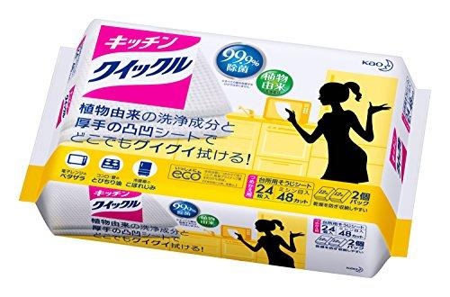 キッチンクイックル 台所用洗剤 シートタイプ 詰替用 24枚...