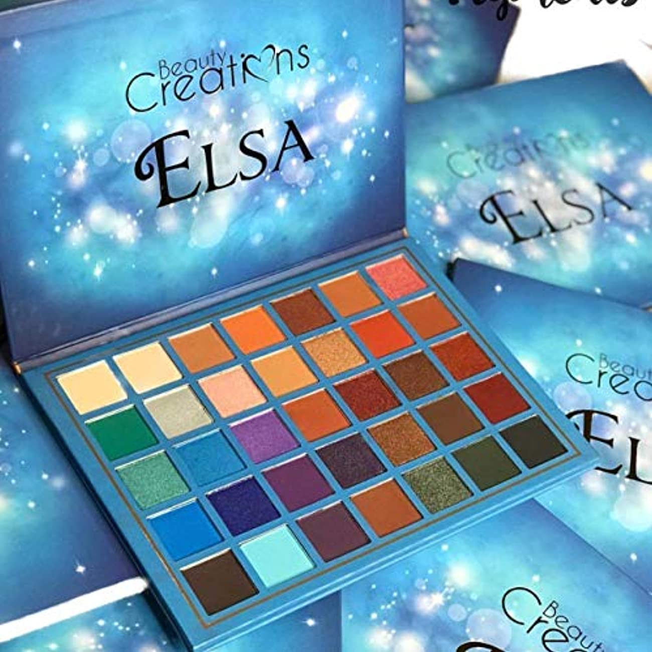 騒々しい誇り心臓Elsa 35 Color Elsa Eyeshadow Palette By Beauty Creation