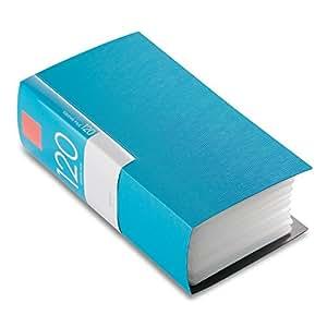 BUFFALO CD&DVDファイルケース ブックタイプ 120枚収納 ブルー BSCD01F120BL