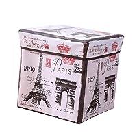 KESOTO 折りたたみ式 収納ボックス 実用 多目的 6種選べる - エッフェル塔