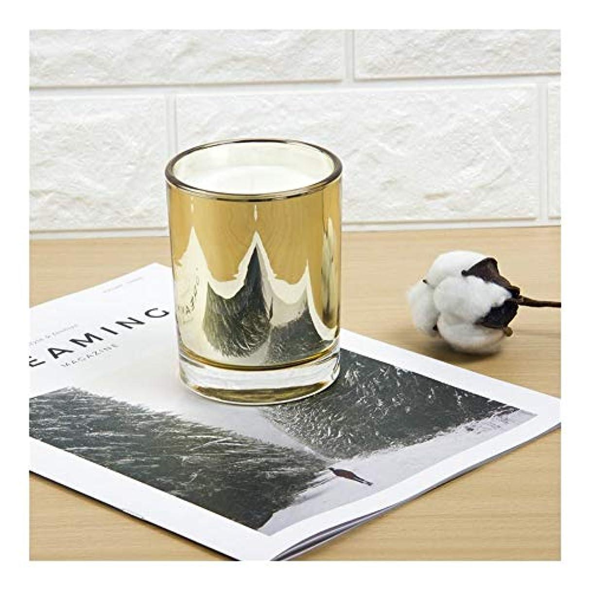 暗いパッケージ要旨Ztian ゴールドカップキャンドル大豆アロマセラピーパーティーキャンドル誕生日プレゼント植物キャンドル