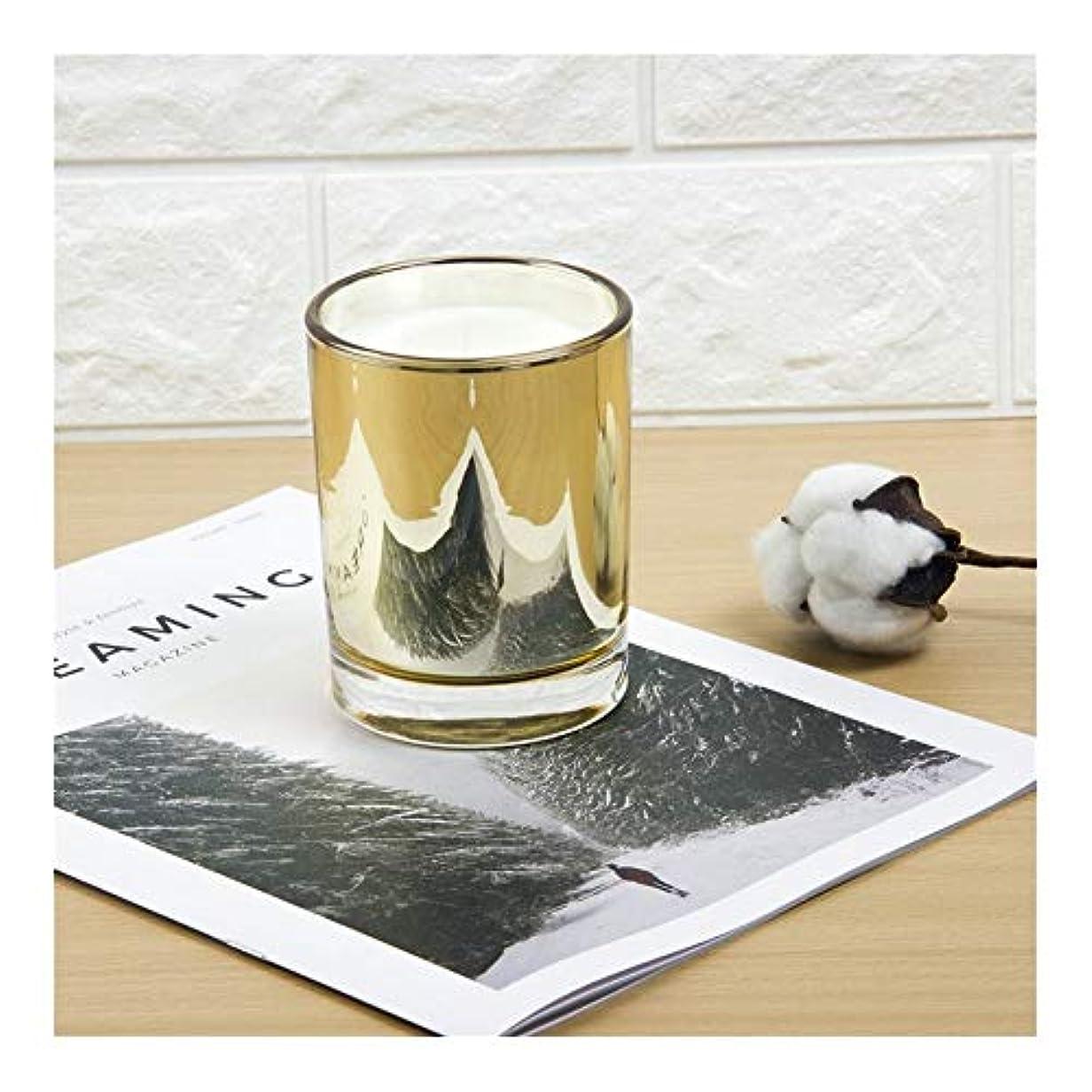 エスカレート意図普通のACAO ゴールドカップキャンドル大豆アロマセラピーパーティーキャンドル誕生日プレゼント植物キャンドル