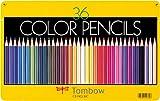 トンボ鉛筆 色鉛筆 36色 缶入 CB-NQ36C