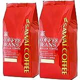 澤井珈琲 コーヒー 専門店 パプアニューギニア コーヒー セット 1kg (500g x 2) 100杯分 大入り 【 豆のまま 】