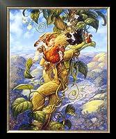 カラービーズ ストーン画 ジャックと豆の樹