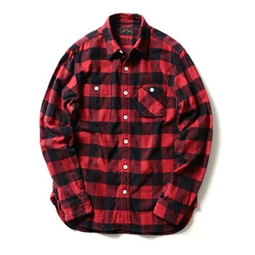 (ビームスプラス) BEAMS PLUS BEAMS PLUS / バッファローチェック ワークシャツ 11112493139  RED L