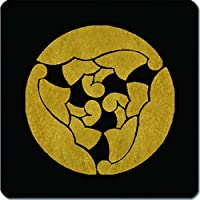 家紋 捺印マット 三つ割り杏葉紋 11cm x 11cm KN11-1345