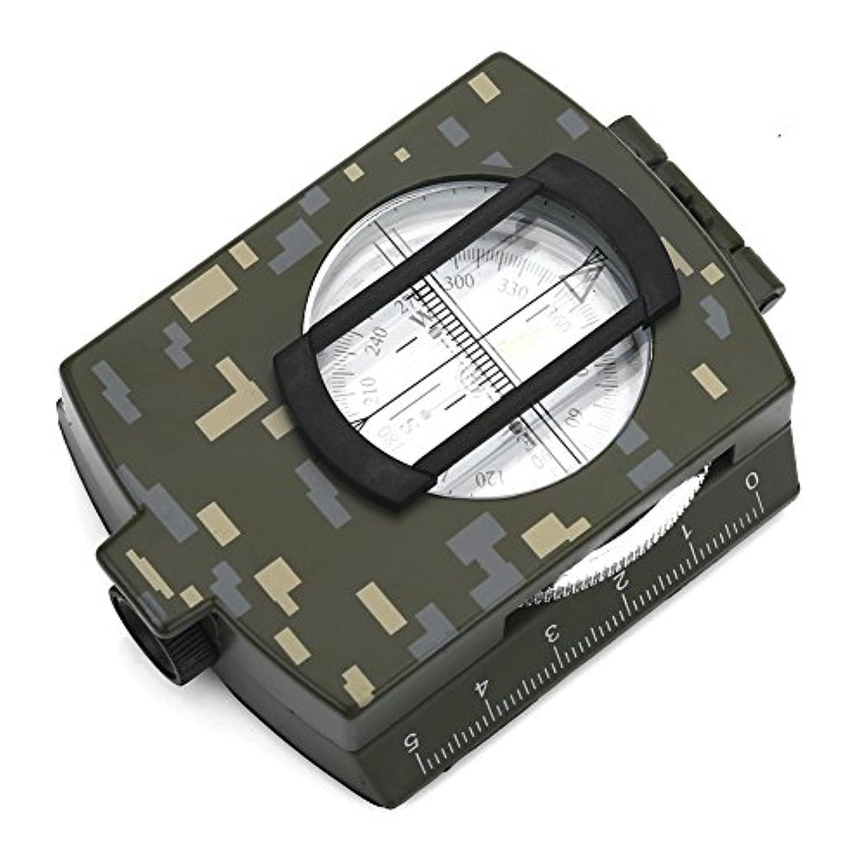 みなさん電化するポンド軍用 コンパス 方位磁石 高精度 ミリタリーコンパス 防水 蓄光 多機能 折り畳み式 アウトドア 登山 防災 ハイキング用 収納袋付き
