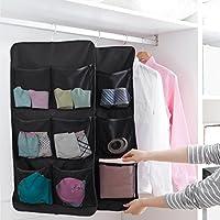 unikon Hanging Closet dual-sidedオーガナイザーHanging Toiletry Bag Bookシェルフ、ブラック 7 Pockets ブラック JY926