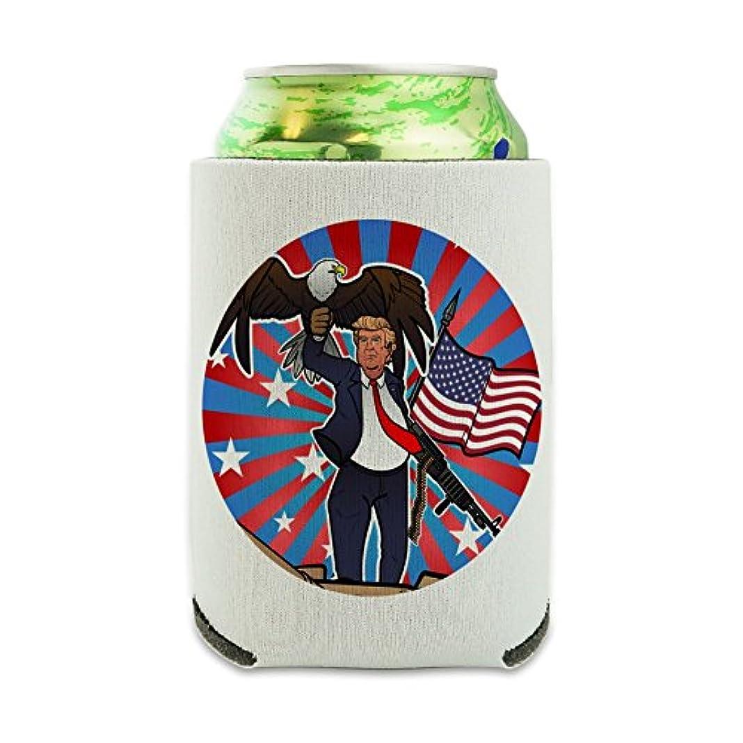 きちんとした画面願望アメリカン?フラッグ?ガン?タンクのイーグル愛国者ドナルド?トランプ Can Cooler - ドリンクスリーブハガーCollapsible Insulator - Beverage Insulated Holder