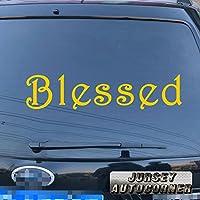 3s MOTORLINE Blessedデカールステッカー車ビニールJesus God ChristバンパーウィンドウPickカラーサイズ 32'' (81.3cm) ブラック 20180329s20