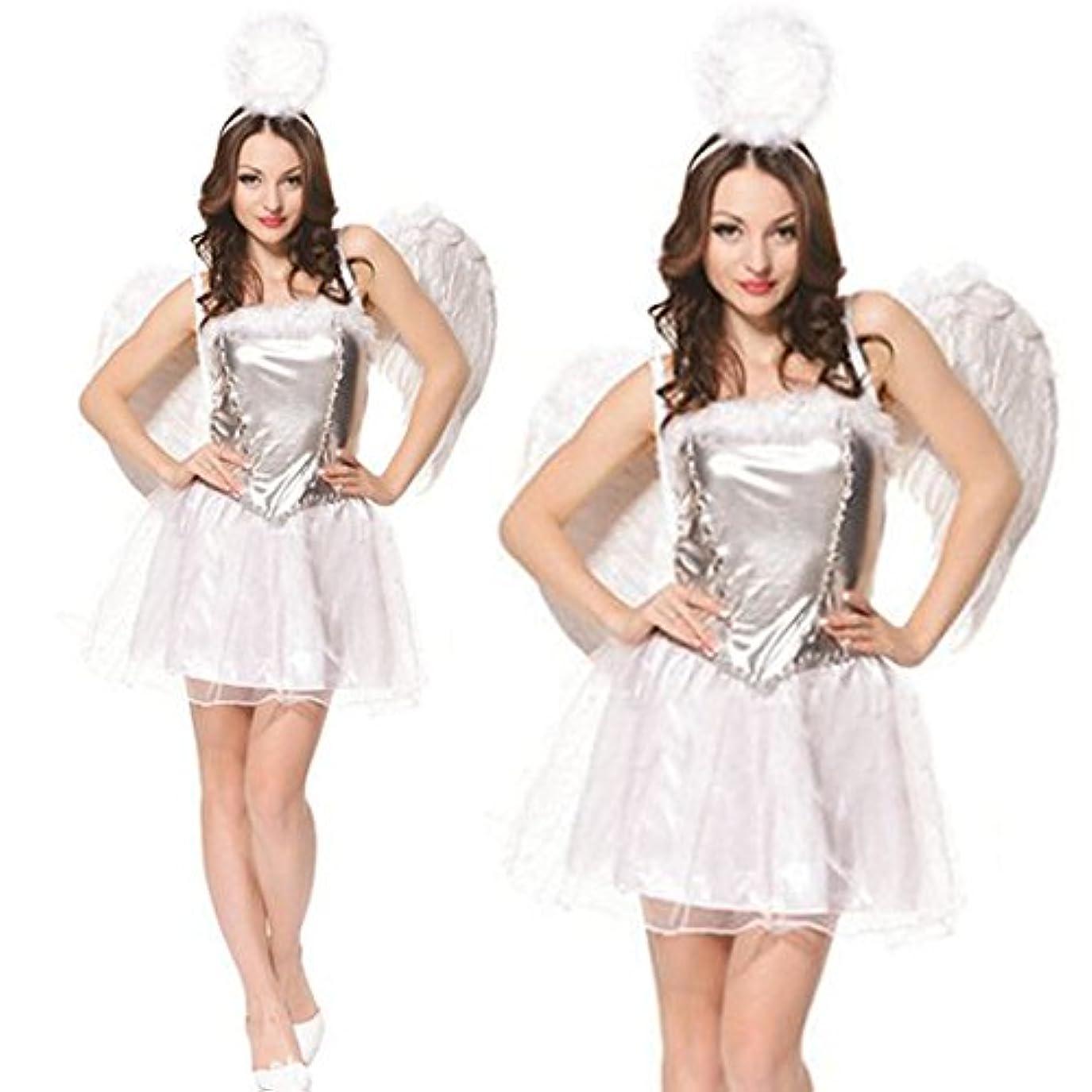 引き潮失効魂monoii 天使 コスプレ 天使 コスチューム ハロウィン エンジェル 衣装 妖精 仮装 天使 羽 c048