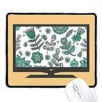 植物の葉緑の花を描く マウスパッド・ノンスリップゴムパッドのゲーム事務所