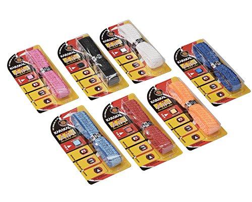 KARAKAL(カラカル) グリップ 全ラケットスポーツ対応 PU SUPER AIR 7個1セット KA 683 赤 青 黒 白 蛍光オレンジ ピンク 水色