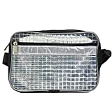LigAtoo 軽量 スタイリッシュ クリーンバッグ 透明 エンジニアバッグ スポーツバッグ コンピューターバッグ (03.ショルダー ミニタイプ 24x15x5cm)