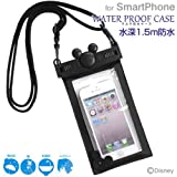 ディズニー iPhone 防水ケース IPX8 スマホ iPhone6s iPhone6 iPhone5s / ブラック