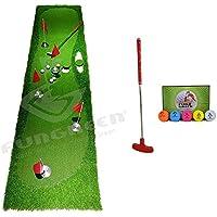 FUNGREEN ゴルフパッティング5穴 グリーン 75x300cm 屋内 屋外 トレーニング パターマット 興味深い練習 ゴルフパッティングパッド 3つのバージョン 標準ファミリー デラックススタイル