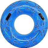 FIELDOOR 便利な持ち手付き ジャンボ 浮き輪 大きい うきわ 使用時直径95cm ブルー (スプラッシュ) 大人用