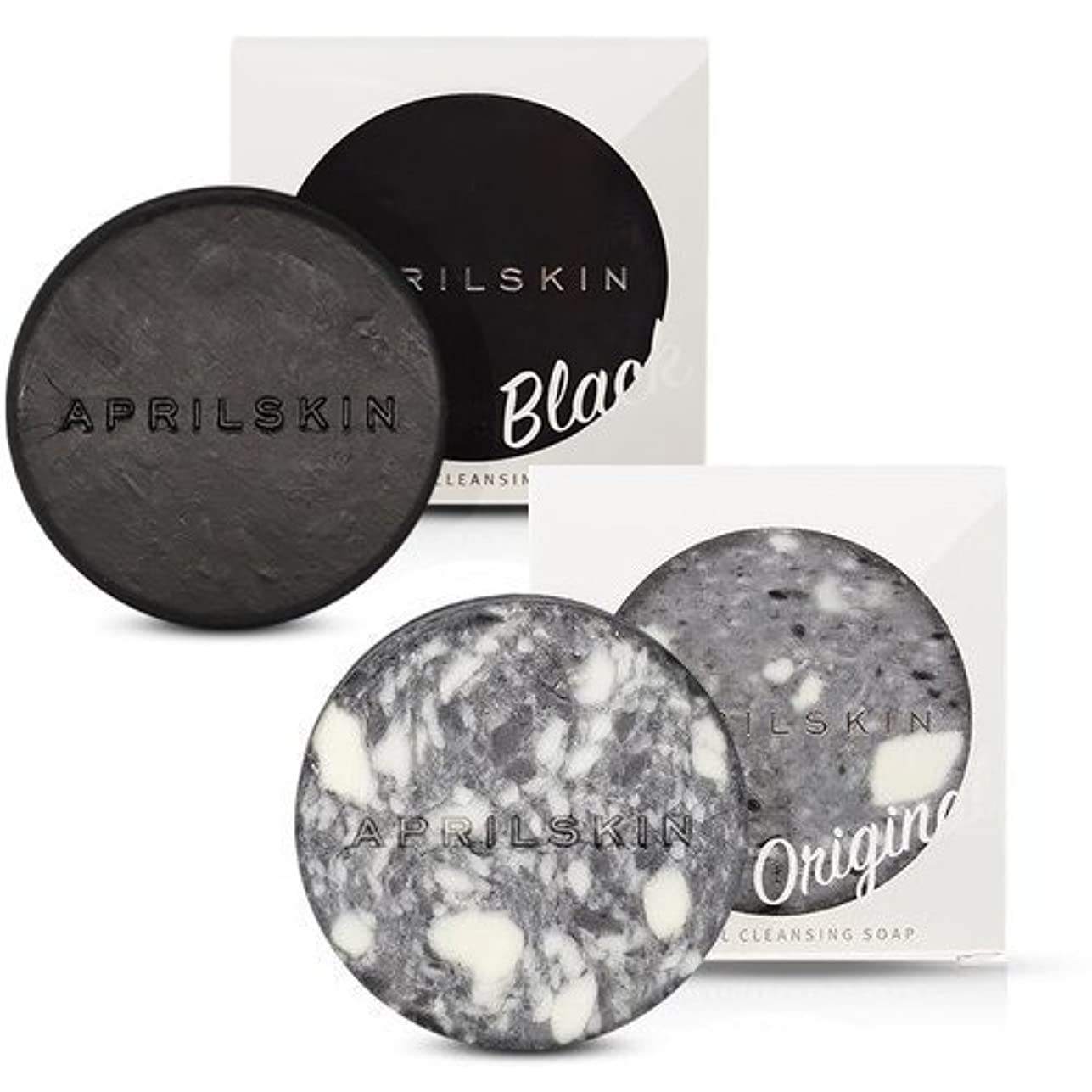 ルーフ粘り強いディンカルビル[1+1][APRILSKIN] エイプリルスキン国民石鹸 (APRIL SKIN マジックストーンのリニューアルバージョン新発売) (ORIGINAL+BLACK) [並行輸入品]