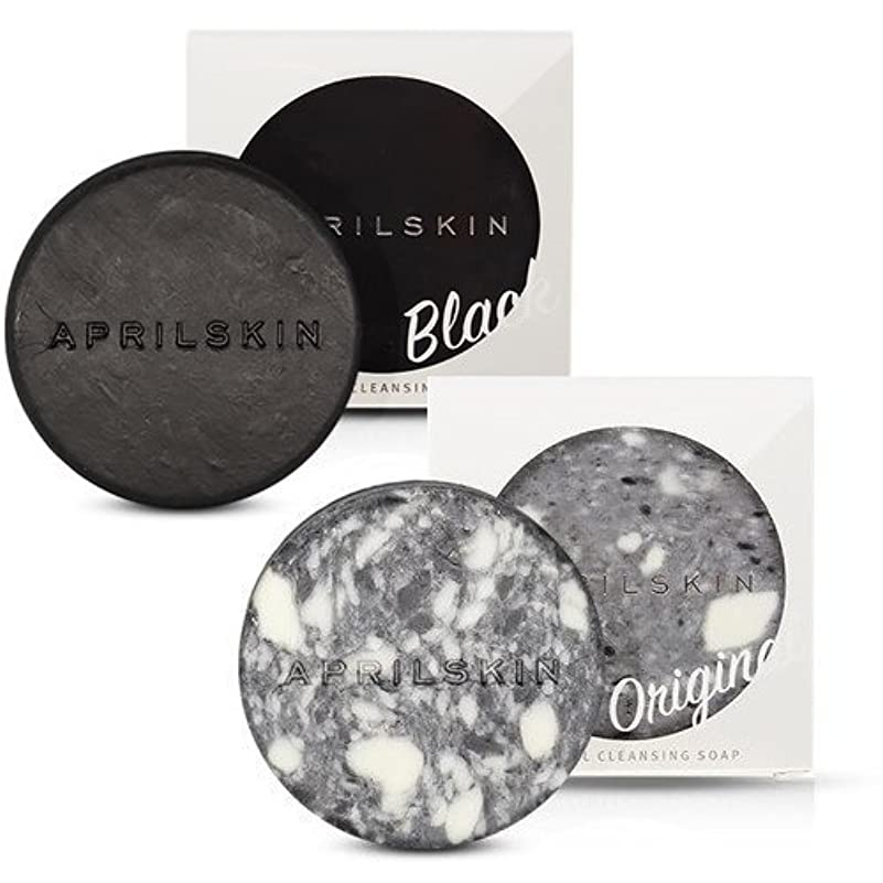 昼間剃る衝突[1+1][APRILSKIN] エイプリルスキン国民石鹸 (APRIL SKIN マジックストーンのリニューアルバージョン新発売) (ORIGINAL+BLACK) [並行輸入品]