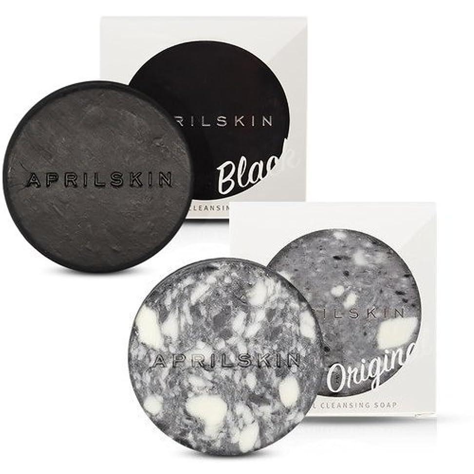 鋼ルームと遊ぶ[1+1][APRILSKIN] エイプリルスキン国民石鹸 (APRIL SKIN マジックストーンのリニューアルバージョン新発売) (ORIGINAL+BLACK) [並行輸入品]