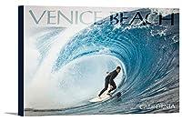 Venice Beach , California–サーファーでPerfect Wave 24 x 16 Gallery Canvas LANT-3P-SC-68826-16x24