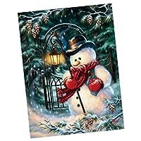 SONONIA クリスマス 5D ダイヤモンド 刺繍 絵画 クロスステッチ クラフト ホーム インテリア 全6タイプ - #4, 20x25cm