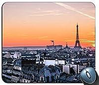 パリの夕日カスタマイズされたマウスパッド長方形マウスパッドゲーミングマウスマット