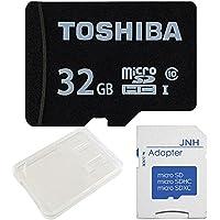 東芝 Toshiba microSDHC 32GB Class10 UHS-I 防水耐X線 + SD アダプター + 保管用クリアケース [バルク品]
